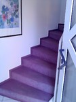 Vorher: Treppe mit altem Teppichboden
